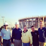 Left to Right: MCM Project Manager, Mayor Jeff Porter, Jose Luya, Kyla Gordon and Zackery Good